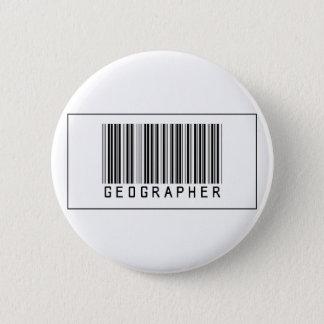 Barcode Geographer 6 Cm Round Badge