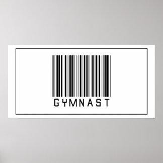Barcode Gymnast Poster