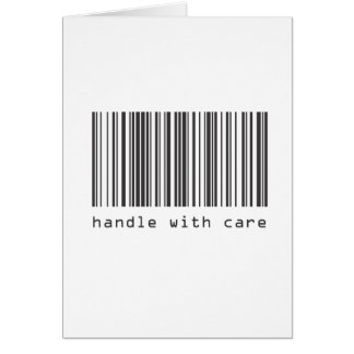 Barcode - Handle With Care Card