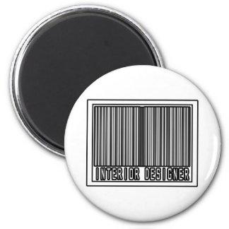 Barcode Interior Designer Fridge Magnet