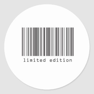 Barcode - Limited Edition Classic Round Sticker
