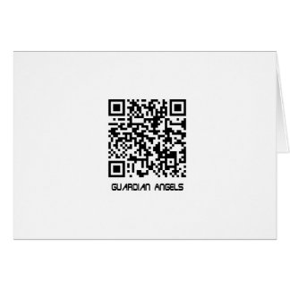 Barcode Message - Your Guardian Angel Loves You Card