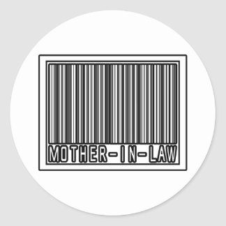 Barcode Mother-In-Law Stickers