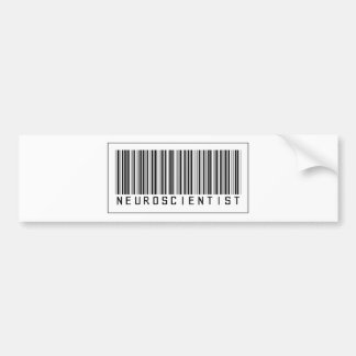 Barcode Neuroscientist Bumper Sticker