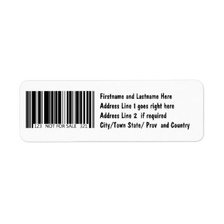 Barcode - Not for Sale Return Address Label