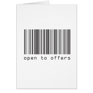 Barcode - Open To Offers Card