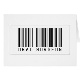 Barcode Oral Surgeon Card