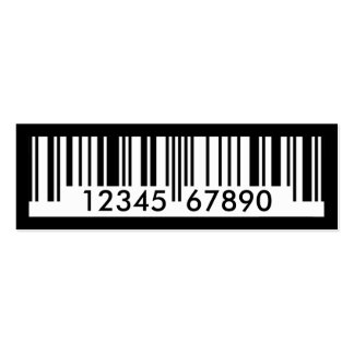 barcode pack of skinny business cards