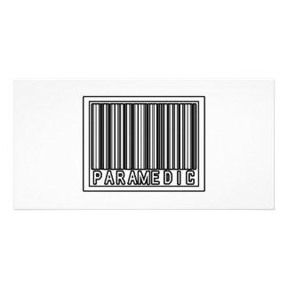 Barcode Paramedic Personalized Photo Card
