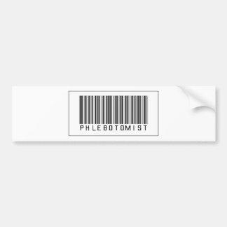 Barcode Phlebotomist Bumper Sticker