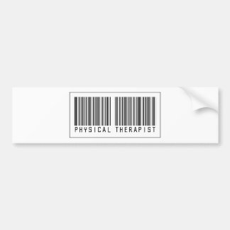 Barcode Physical Therapist Bumper Sticker