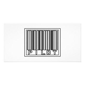 Barcode Pilot Photo Card Template