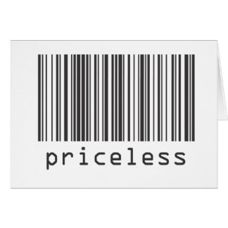 Barcode - Priceless Card