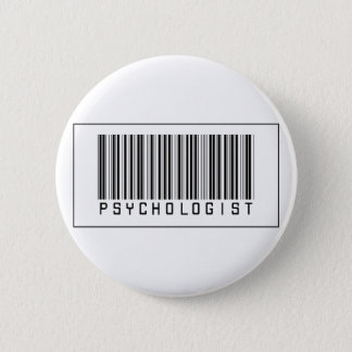 Barcode Psychologist 6 Cm Round Badge