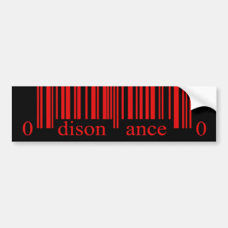 Barcode Red Disonance Bumper Sticker