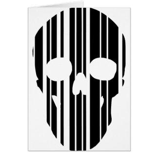 Barcode Skull Card