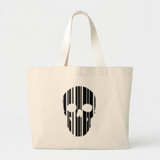 Barcode Skull Large Tote Bag