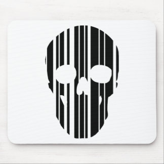 Barcode Skull Mouse Pad