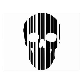 Barcode Skull Postcard