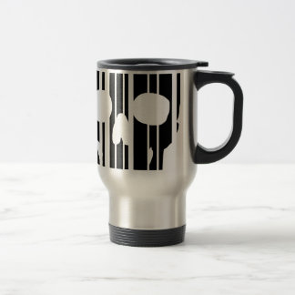 Barcode Skull Travel Mug