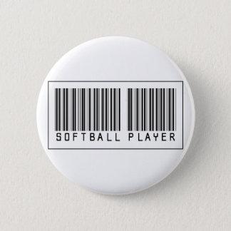 Barcode Softball Player 6 Cm Round Badge