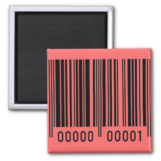 Barcode Square Magnet