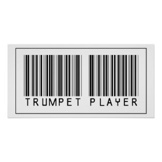 Barcode Trumpet Player Poster