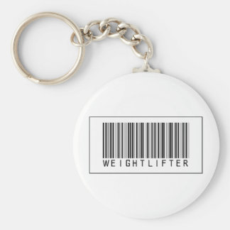 Barcode Weightlifter Key Chain