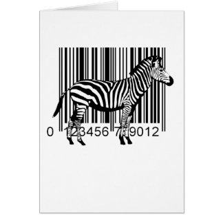 Barcode Zebra illustration Card
