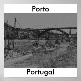 Barcos de Porto Poster