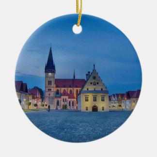 Bardejov is a city of Slovakia Ceramic Ornament