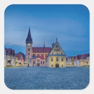 Bardejov is a city of Slovakia Square Sticker