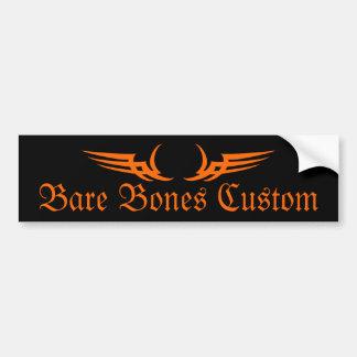 Bare Bones Custom Bumper Sticker Car Bumper Sticker