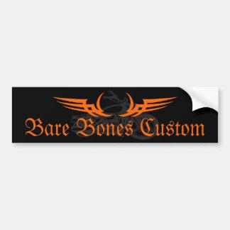 Bare Bones Custom Bumper Sticker