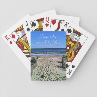 Bare Feet and Salty Air Ocean Photo  Playing Cards