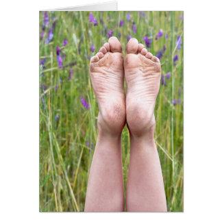 Bare Feet Birthday Card