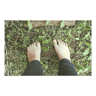 Bare feet photo print