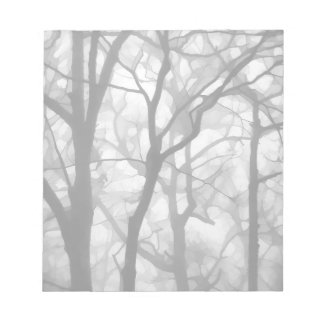Bare Foggy Trees Illustration Notepad
