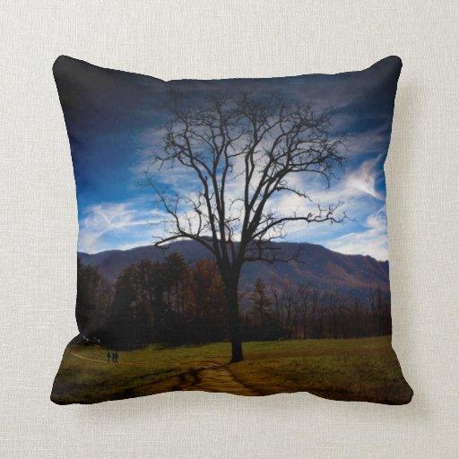 """Bare Tree"" American MoJo Pillows Throw Pillow"