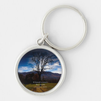 Bare Tree and Blue Sky in Autumn Personalized Key Ring