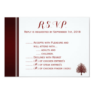 Bare Tree on Deep Red R.S.V.P. Card