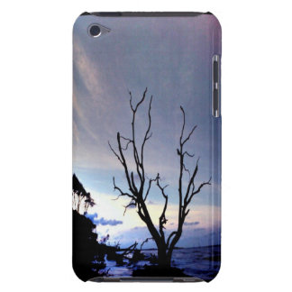 Bare Tree On Shore At Sunset Barely There iPod Cases