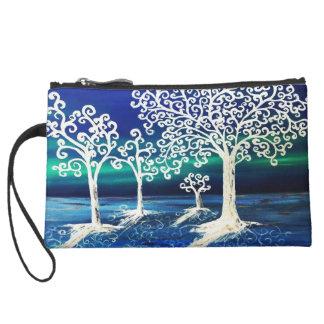 Bare Trees and Blue Sky bag Wristlet