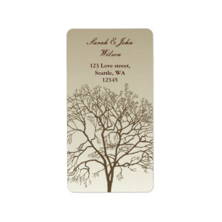 Bare Trees Wedding Address Label