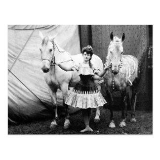 Bareback Girl: 1904 Postcard