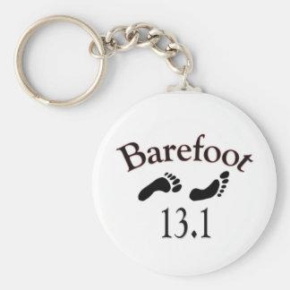 barefoot 13.1 half marathon keychain