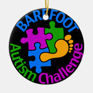 Barefoot Autism Challenge Ornament