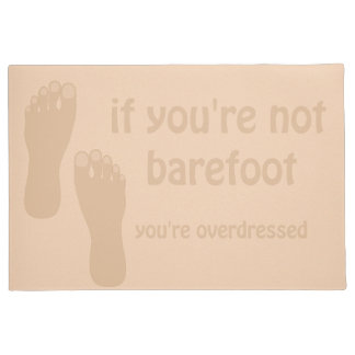 Barefoot Beach House Door Mat