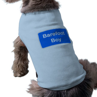 Barefoot Boy, Street Sign, Maryland, US Doggie Shirt