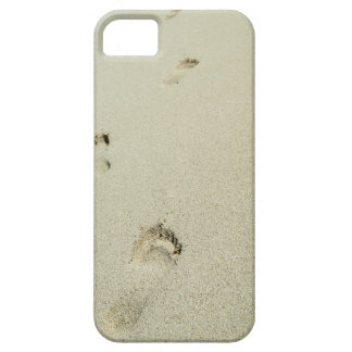 Barefoot footprints on sand iPhone 5 cases